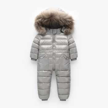 5e5af30f5 2018 Winter Snowsuit Boy Baby Jacket 80% Duck Down Outdoor Infant ...