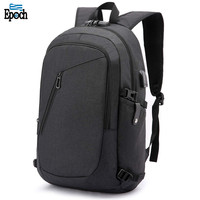 USB Charging Port Earphone Hole Slim Water Resistant Laptop Bag With Fit Luggage Belt