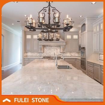 Polished Custom Natural Taj Mahal Quartzite Granite Countertops