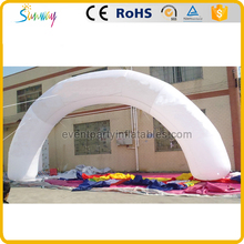 White outdoor archway inflatable advertising arch gate