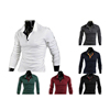 Custom New Fashion Men's Casual Slim Fit Polo Neck Long Sleeve T-Shirt , Mens Polo Shirt , Blank Solid Long Sleeve T-Shirts