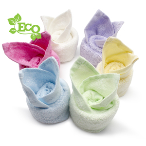 New china products Wholesale Natural White 100% Bamboo Fiber Baby Washcloth 6 Pack