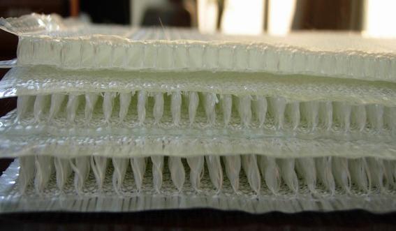 3D Tecido de Fibra de vidro composto por resina -- 3d painel de parede de bambu