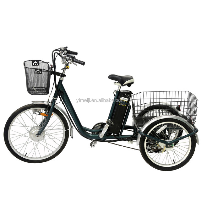 "250W 24"" Electric Three Wheel E Bike Adult Big Tricycle for Elder with EEC Approval for Sale"