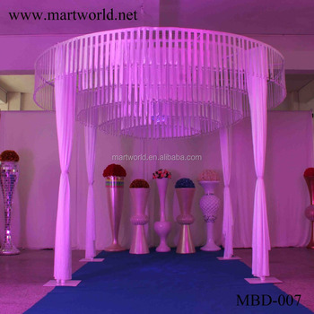 4 m height white round shape fabric wedding mandap decoration for 4 m height white round shape fabric wedding mandap decoration for wedding decoration supplies in guangzhou junglespirit Images