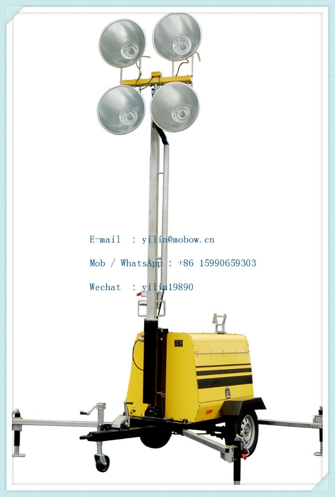 Mo-5658 9M 4*1000W emergy saving emerency power supply of lighting tower