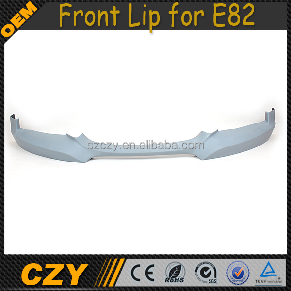 H Style FRP E82 Front Bumper Lip for BMW