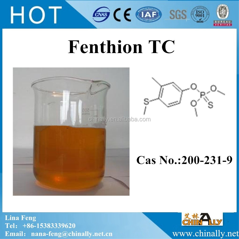Insecticides Fenthion 95%TC 52.5% EC, 50%EC, (CAS NO.55-38-9)