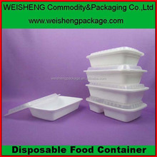 Take away airplane disposable lunch box plastic fast food packaging box