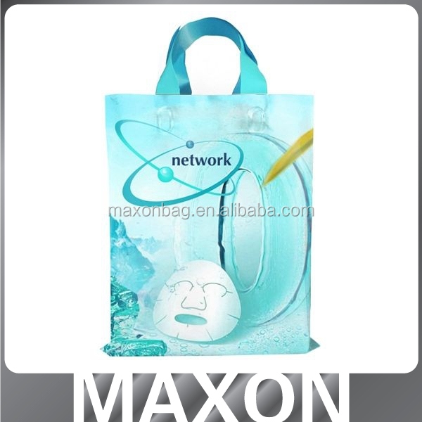 blue machine made shopping plastic bags ,China manufacturer