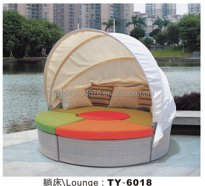 Canopy Sunbed Outdoor Furniture Sun Lounger Swimming General Use Wholesale Lounge Furniture
