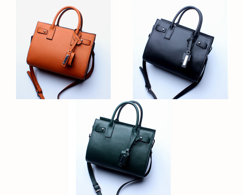 Classic Genuine Leather Shoulder Bag Business 일 실용적인 크로스 바디의 Bag Women Handbag Tote