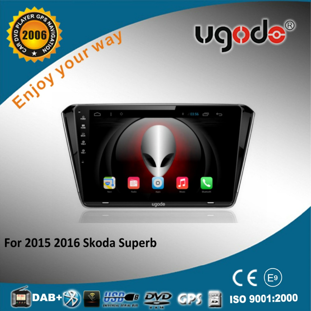 Android 1 din auto radio gps for 2015 2016 Skoda Superb with bluetooth 3g steering wheel control