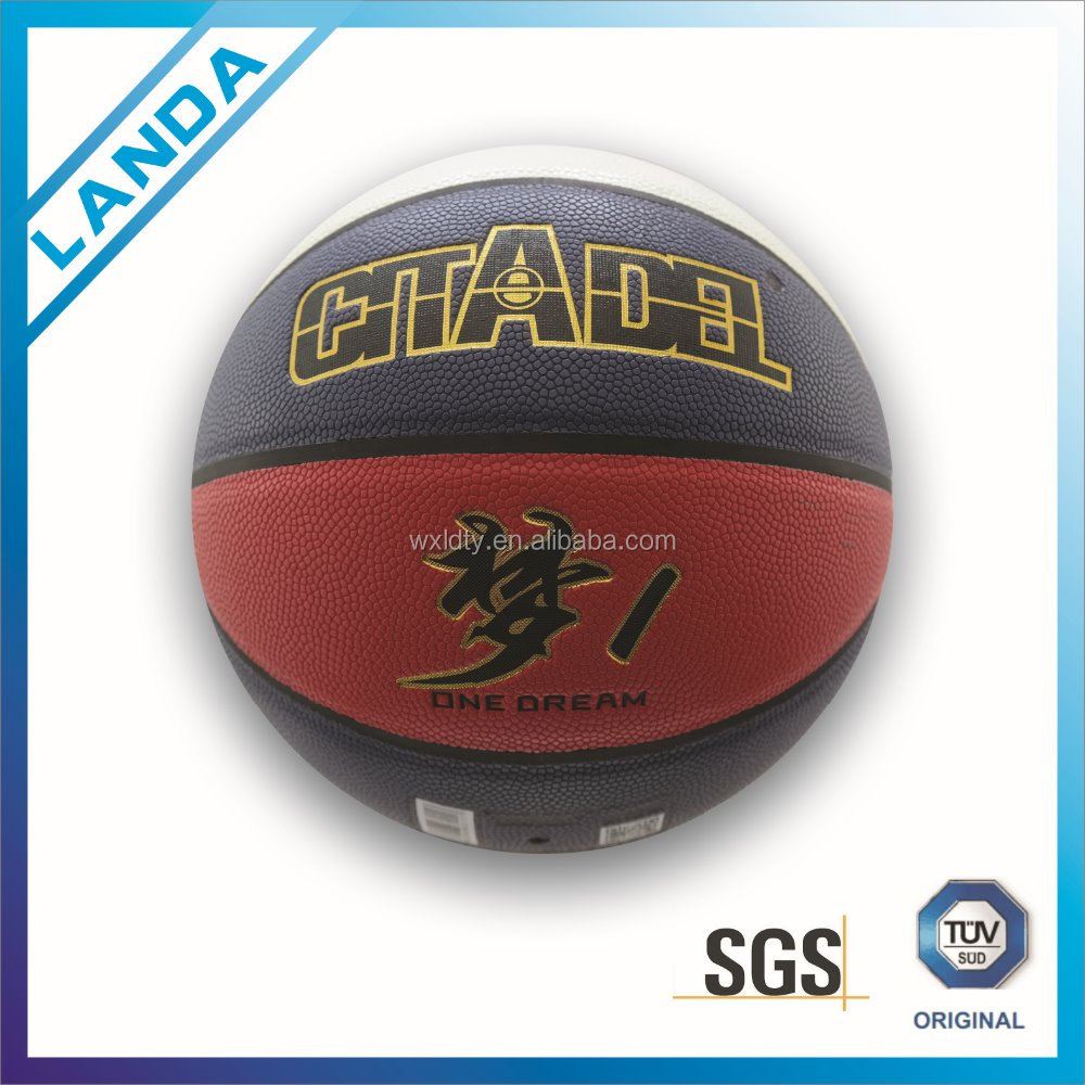 Offcial size PVC custome laminated 8 pannels basketballs