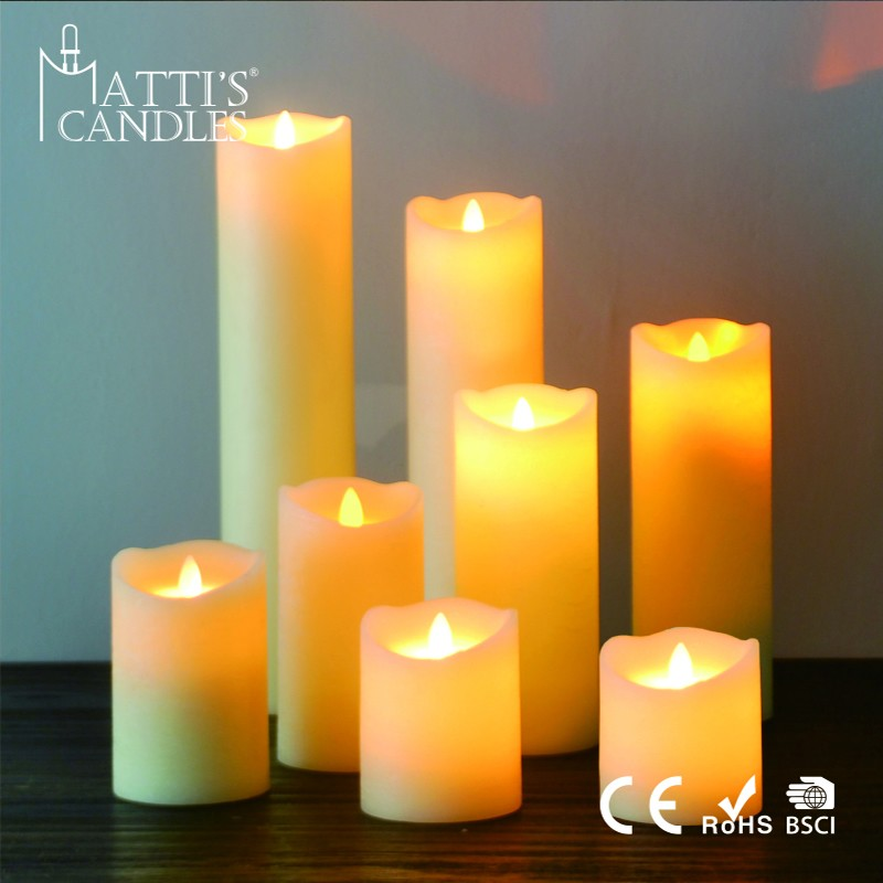 Wholesale home decoration led candle wick/moving flame led candle/flameless moving wick led candle