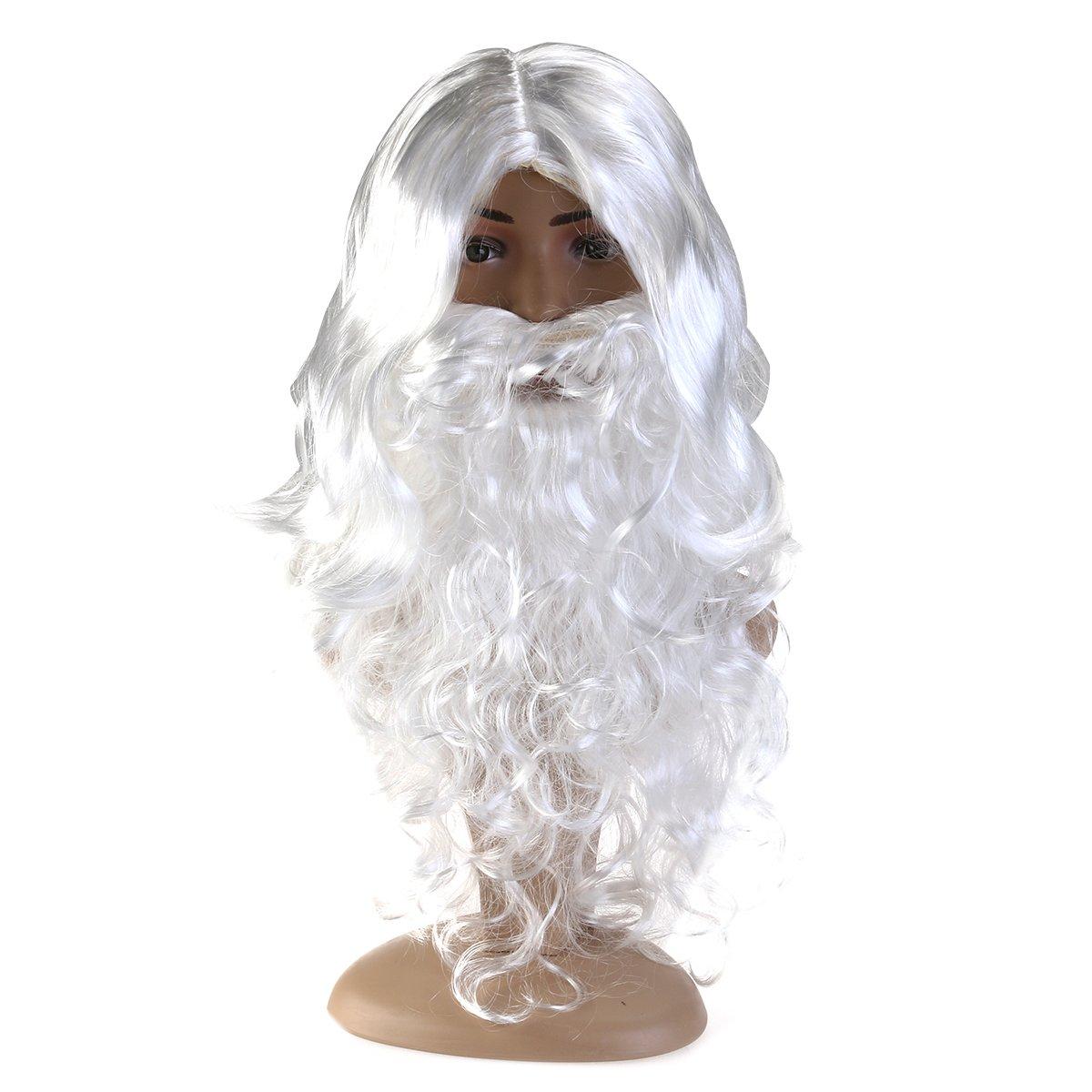 FENICAL Santa Wig Beard Set Christmas Gift