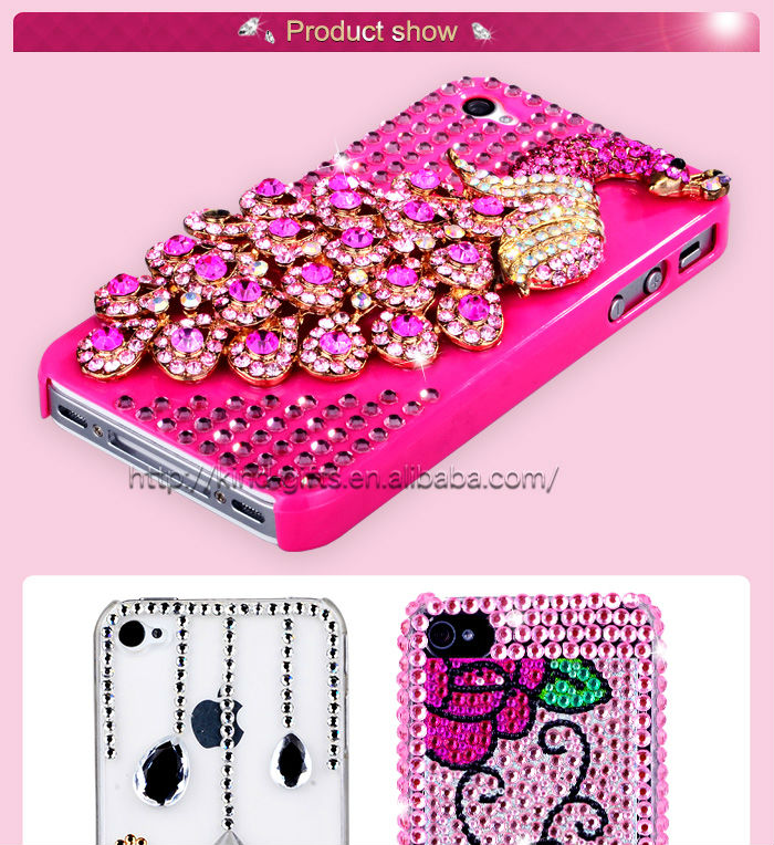 New Bling Rhinestone Mirror Case Cell Phone Accessories With Mirror