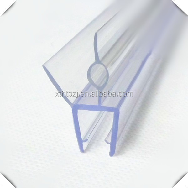 bathroom pvc glass shower door water strip for water stopper