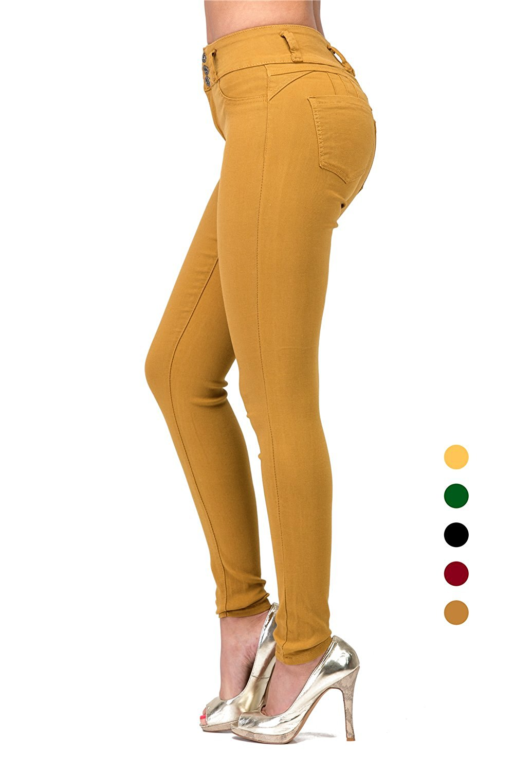 16a9cc5ee8e L.B FASHION High Waisted Jeans Skinny Stretch Colored Pencil Pants Butt Lift  for Juniors Teen Grils