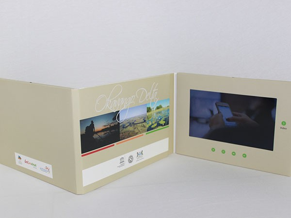 3000mah battery video player mailable greeting card