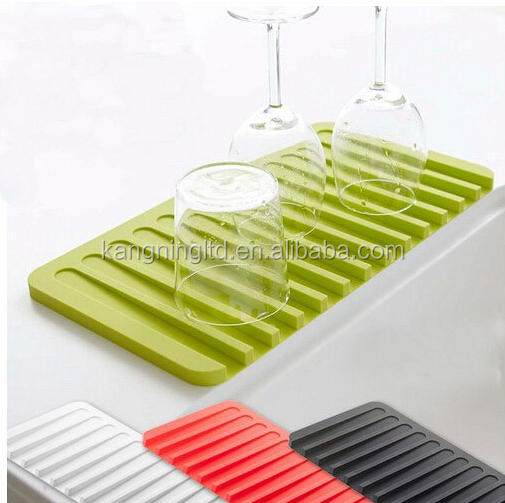 Silicone Drying Mat,Silicone Drainer Tray,Silicone Dish Drainer ...