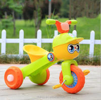 hot sale Baby Simple Style cartoon Plastic and Metal Kid thgree wheel Tricycle made in china .