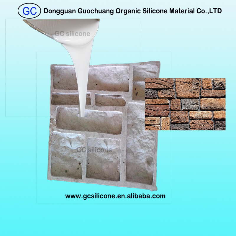 RTV2 silicone rubber for concrete stacking stone veneer molds