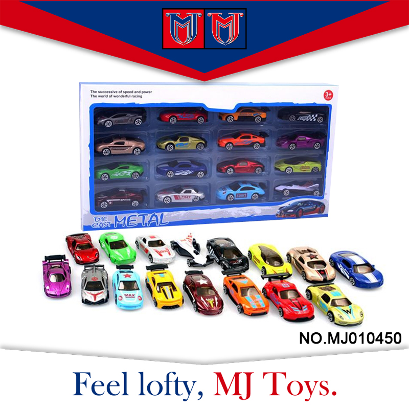 factory price alloy 16 set hot pull back toy wheels toy cars 1:64 for child