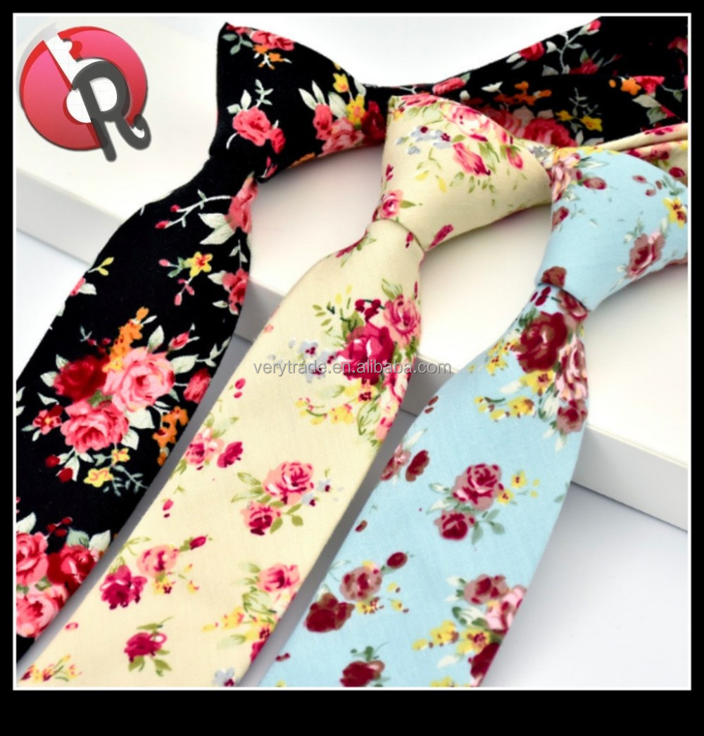 Narrow Skinny Necktie Casual Neck <strong>Tie</strong> Floral Flower Moderator Party <strong>Tie</strong>