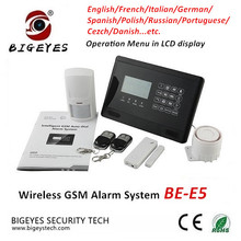 2017 New Model Factory Offer Wolf Guard Golden Security Wireless GSM Home Intruder Alarm System with Operation Menu LCD Display