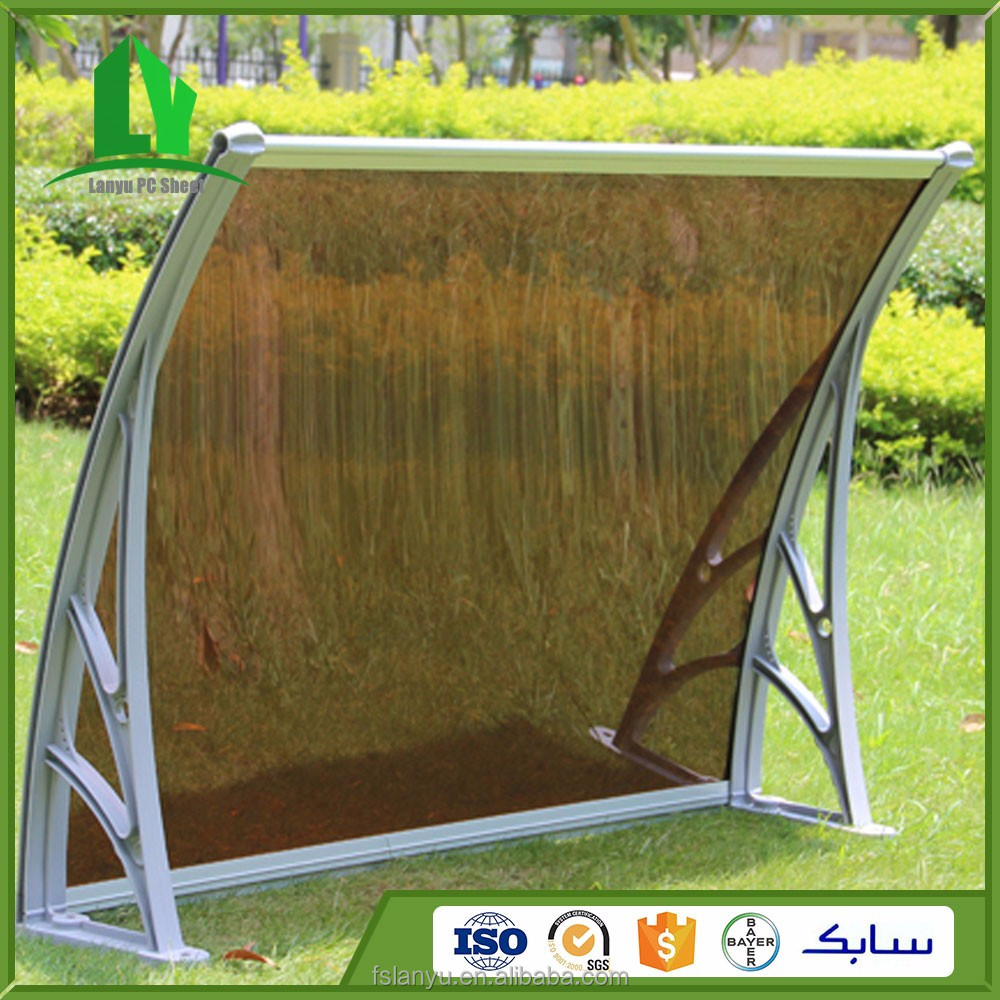 polycarbonate granules plastic transparent board door and window rain cover