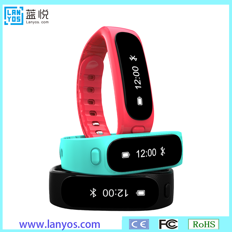 waterproof bluetooth 4.0 smart bracelet pedometer with accelerometer