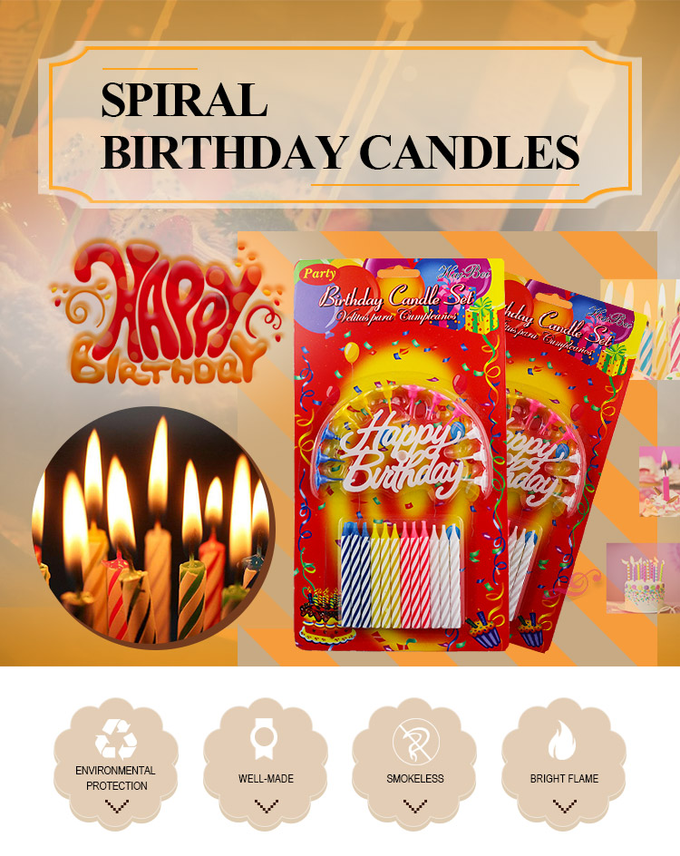20 pcs Spiral Colored Candle Exported To Indonesia And Turkey For Party Used
