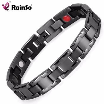 High Quality Cool Blood Pressure Control Healing Magnetic Steel Bracelet Men