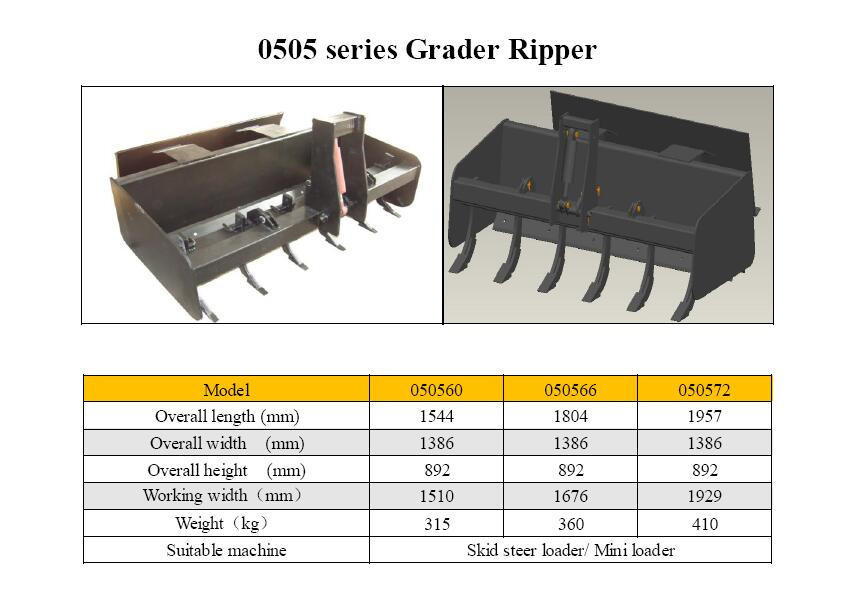 Hcn 0505 Skid Steer Ripper Land Scraper Ripper Attachment - Buy Land  Scraper Ripper,Used Skid Steer Attachments,Skid Steer Backhoe Attachments  Product