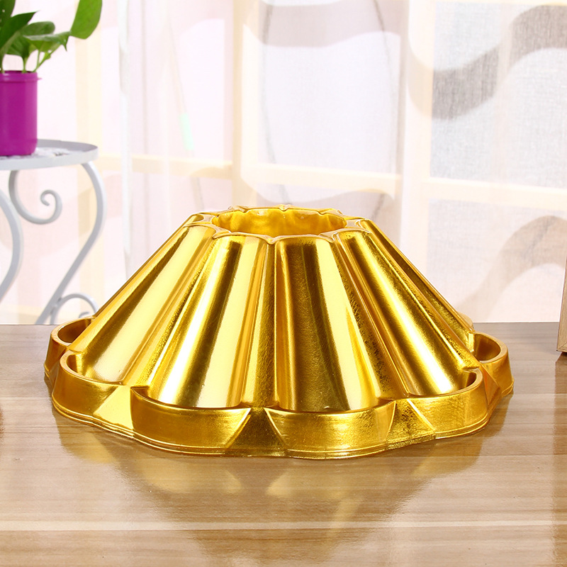 golden food grade plastic tray for chocolate and candy packaging
