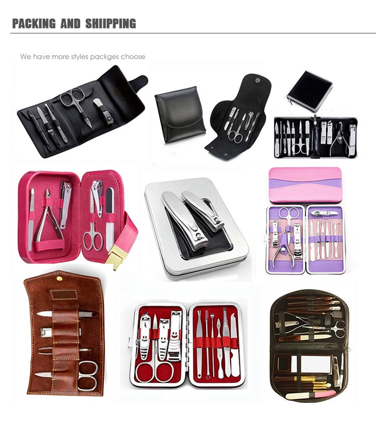 2018 High Quality New 12pcs Mens nail clipper toolsManicure Set