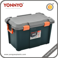 Popular 52L Plastic Garage Storage Box With lid Home Tool Bins