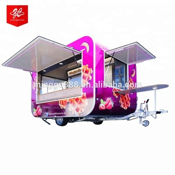 Towable high quality catering trailer mobile food trucks