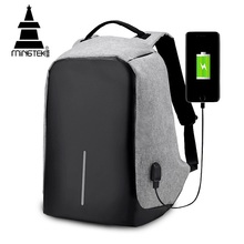 15 inches waterproof nylon man Anti-theft Usb Charge business Laptop Backpack bag