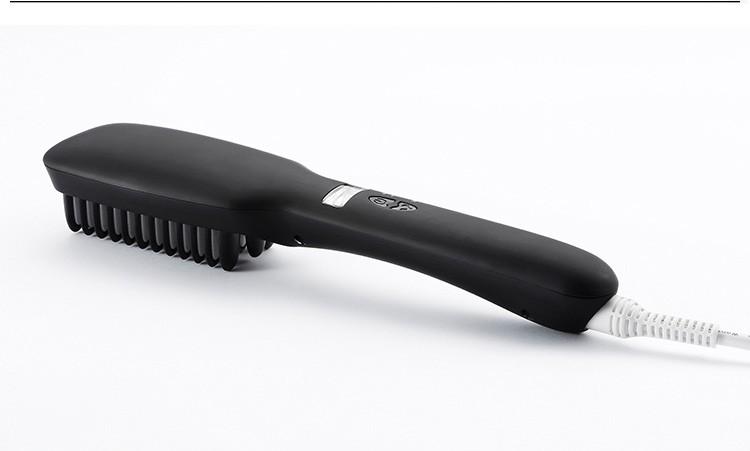 New design electric hair brush Ionic 2 in 1 Hair Straightening Brush