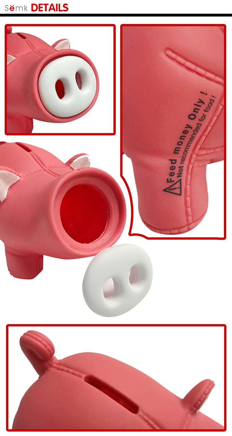 Made In China banco atm piggy caixa de dinheiro do porco forma de plástico por atacado