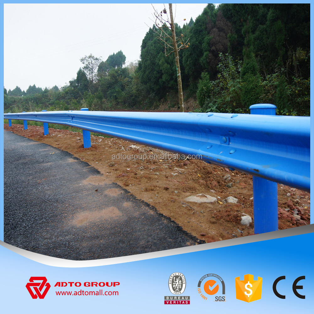ADTO Stable Metallic Highway Guardrail Safety Crash Barrier corrugated W beam