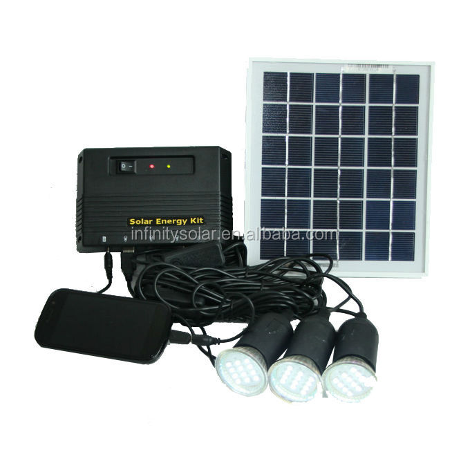 4W/11V solar module system for house with CE certificated