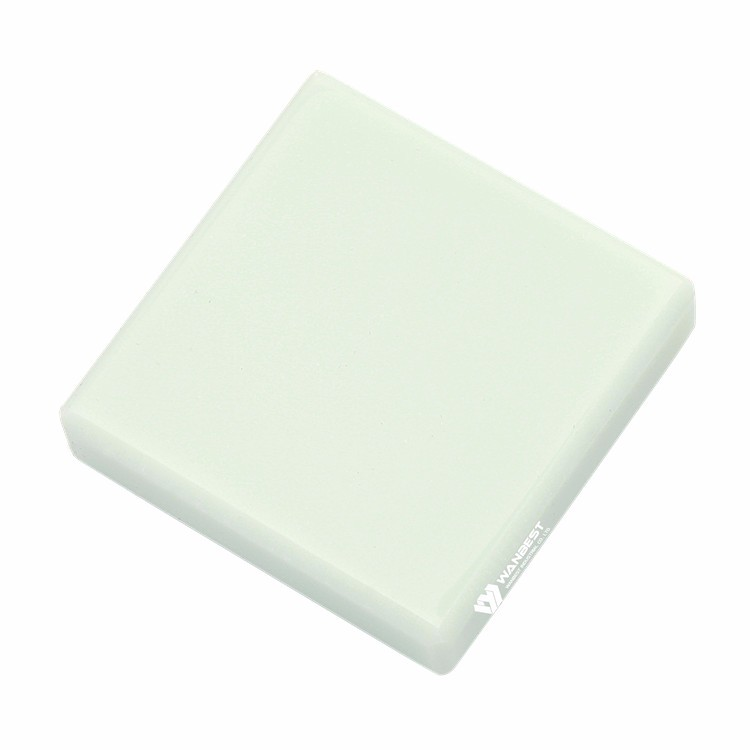 pure light green acrylic solid surface sheet resin stone