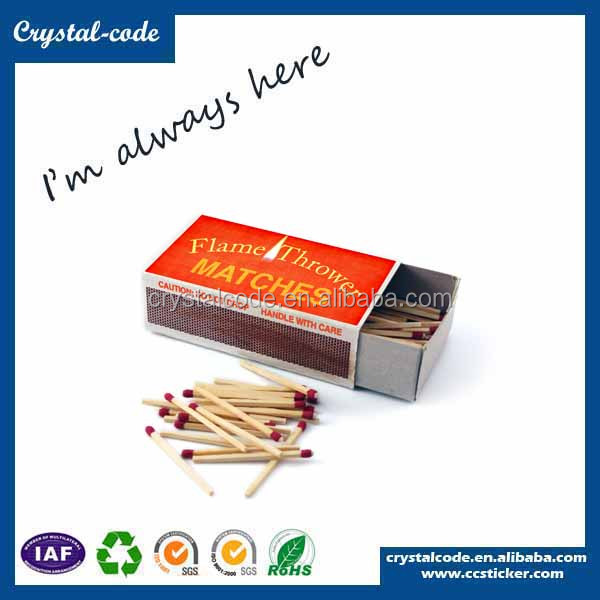 Eco-friendly super quality recycled plain match box printing packaging boxes