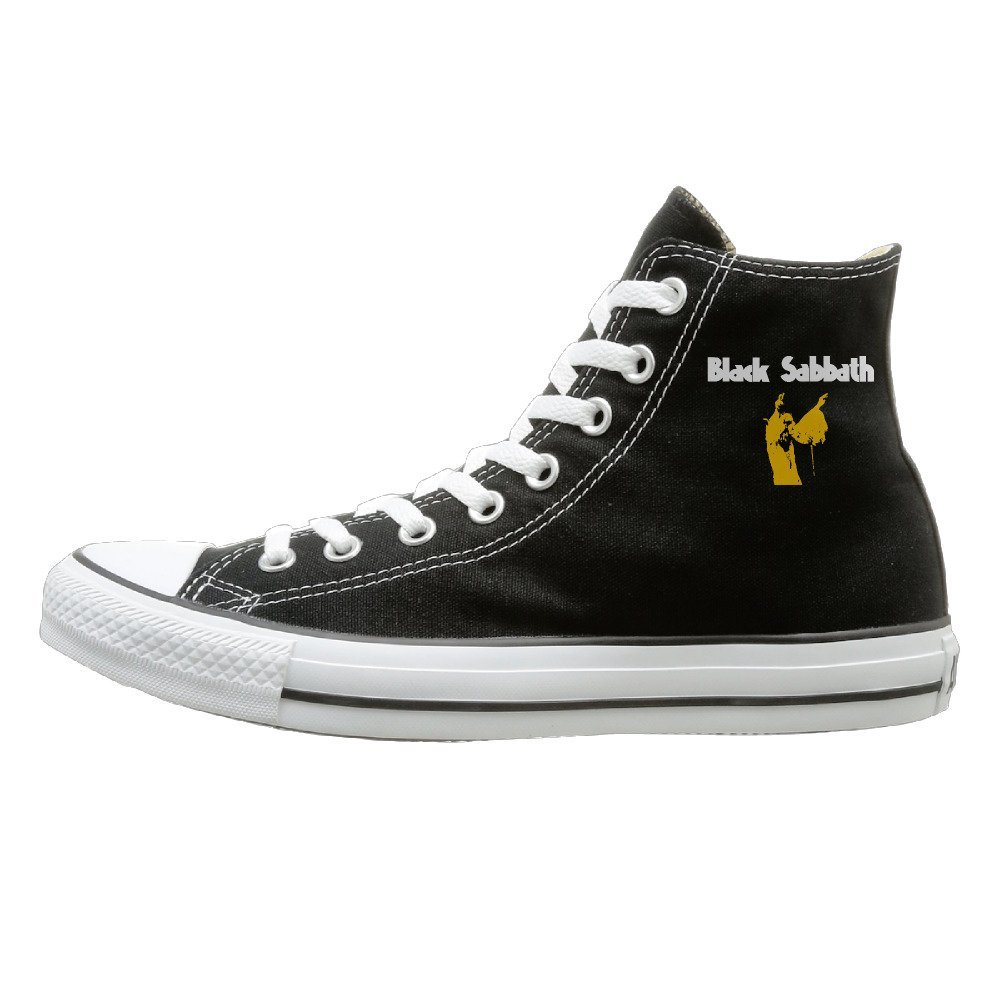 DIANA Adult Rock Band Sabbath Dunk High Canvas Shoes Sneakers Slip On Shoes Black