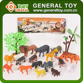 Africa Wild Animal Small Animals Plastic Toys Cartoon Zoo Animal
