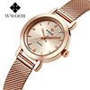 WWOOR WOR 8823 Women's Rose Gold Stainless Steel Quartz Watch Lady Casual Hours Bracelet Watches Women Lover's Female Clock Gift