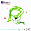 mp3 braided waterproof shoelace earphones for good business ideas